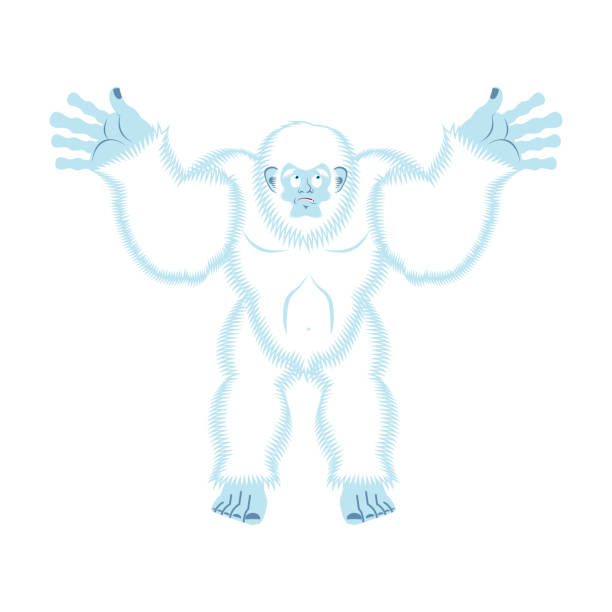 Ilustración de Yeti Culpable Sorpresa De Bigfoot Muñeco De Nieve ...