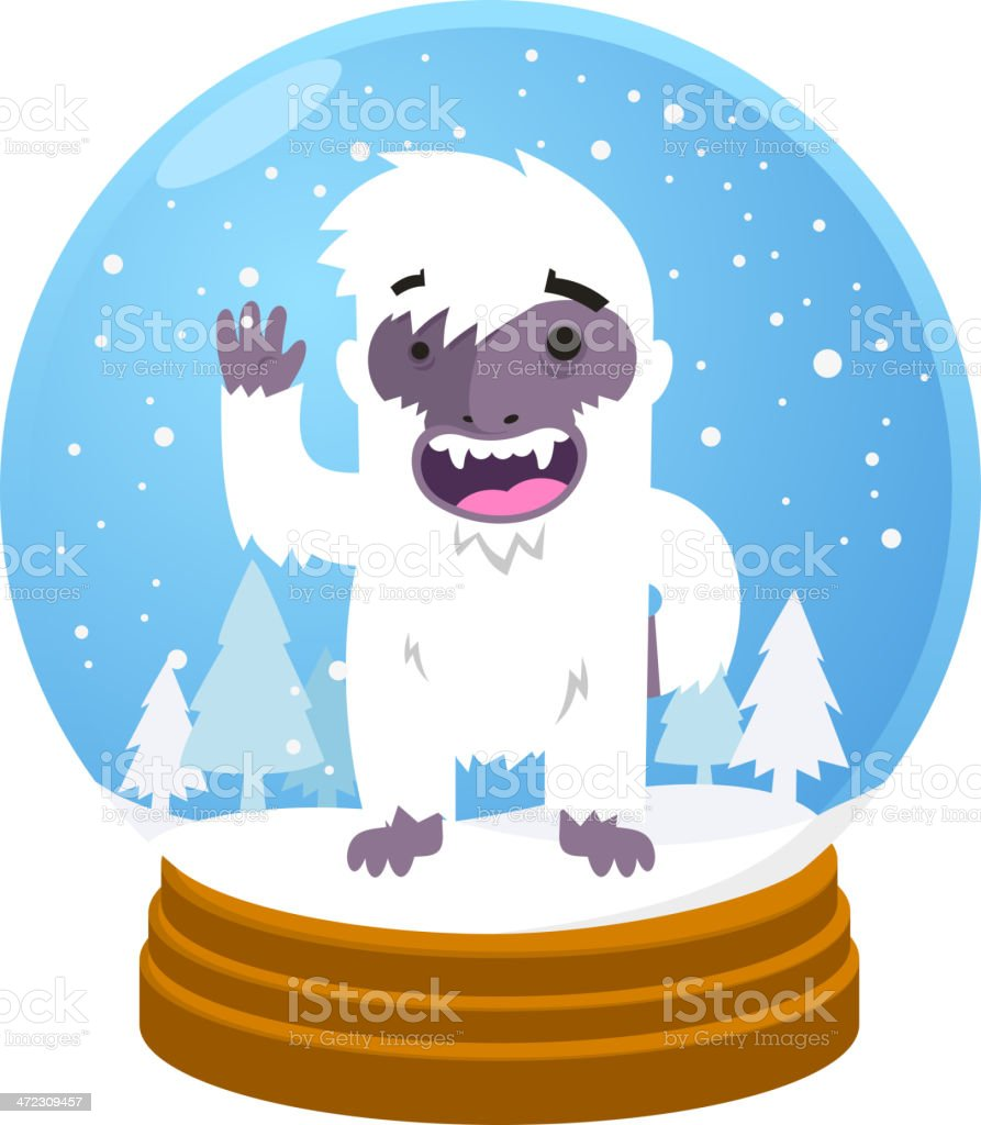 Yeti in Snow globe royalty-free yeti in snow globe stock vector art & more images of animal