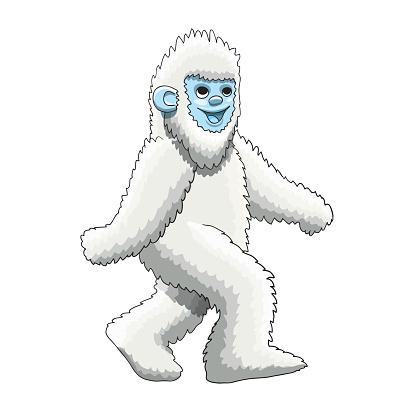 Yeti mascot cartoon character