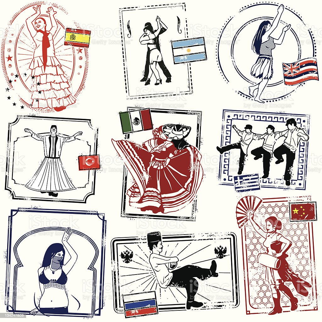 Yevrebody Dancing Now vector art illustration