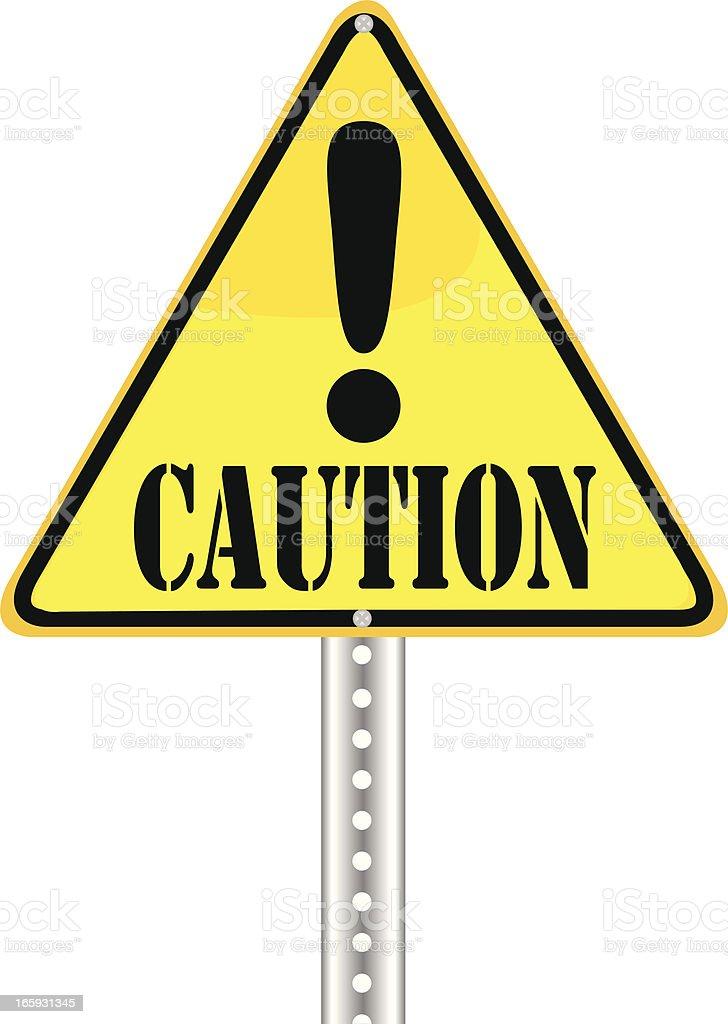 Yield Sign | Caution vector art illustration