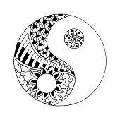 Yin and yang decorative symbol