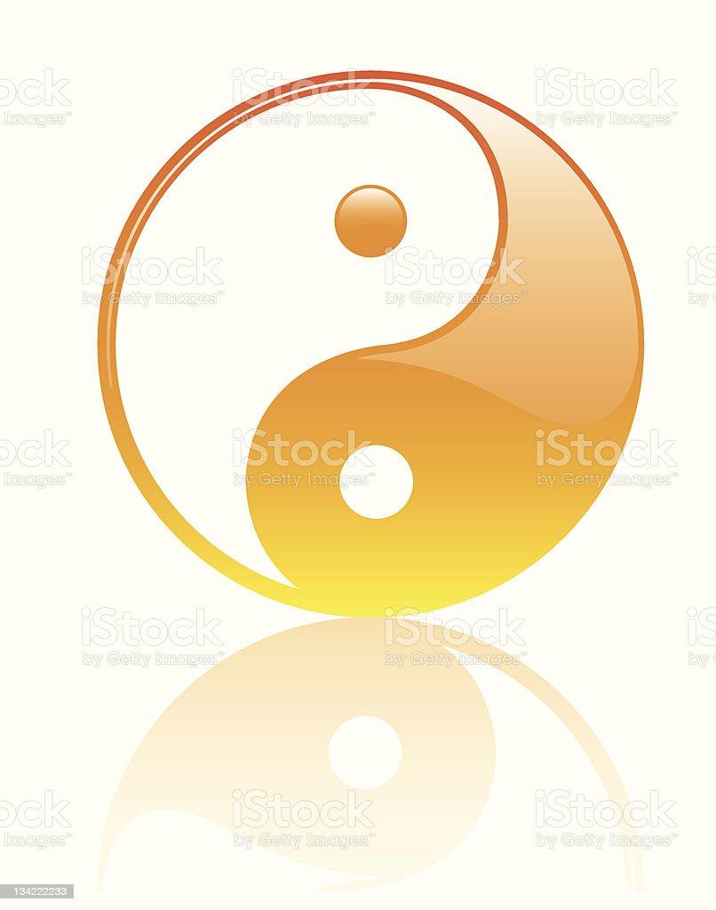 Yin Yan Glossy Symbol royalty-free stock vector art