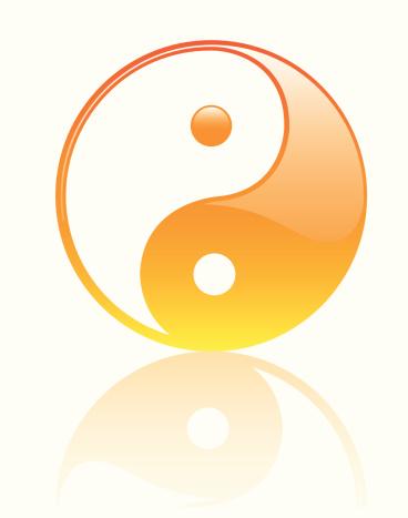 Yin Yan Glossy Symbol