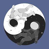 Yin Yang astronauts