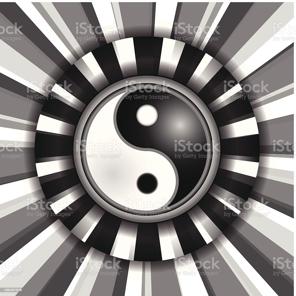 Yin Yang Background royalty-free yin yang background stock vector art & more images of backdrop