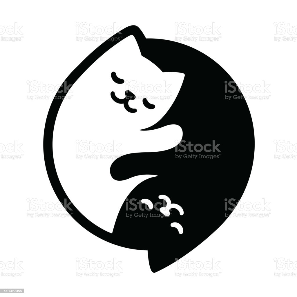Yin Yang Cats Stock Vector Art More Images Of Abstract Istock