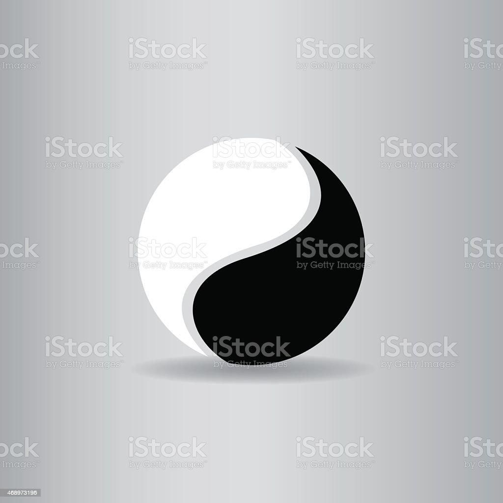 yin yang flat icon  vector illustration eps10 vector art illustration
