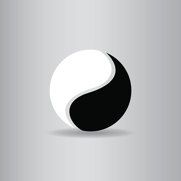 yin yang flat icon  vector illustration eps10 yin yang flat icon  vector illustration eps10 yin yang symbol stock illustrations