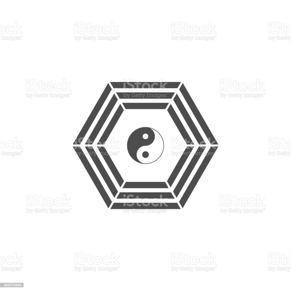 Yin Yang Icon Elements Of Chinese Culture Icon Premium Quality