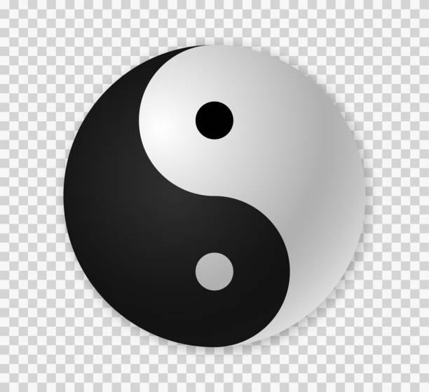 Yin yang icon Yin yang icon.  Ying yang 3d symbol . yin yang symbol stock illustrations