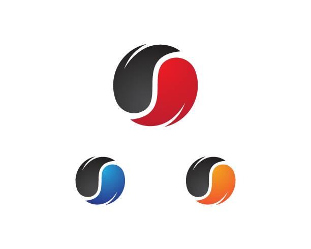 Yin yang icon vector Yin yang icon vector template yin yang symbol stock illustrations