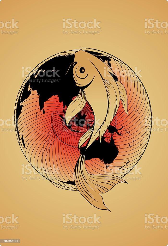 Ilustración De Yin Yang Peces Koi Y Más Banco De Imágenes De Agua
