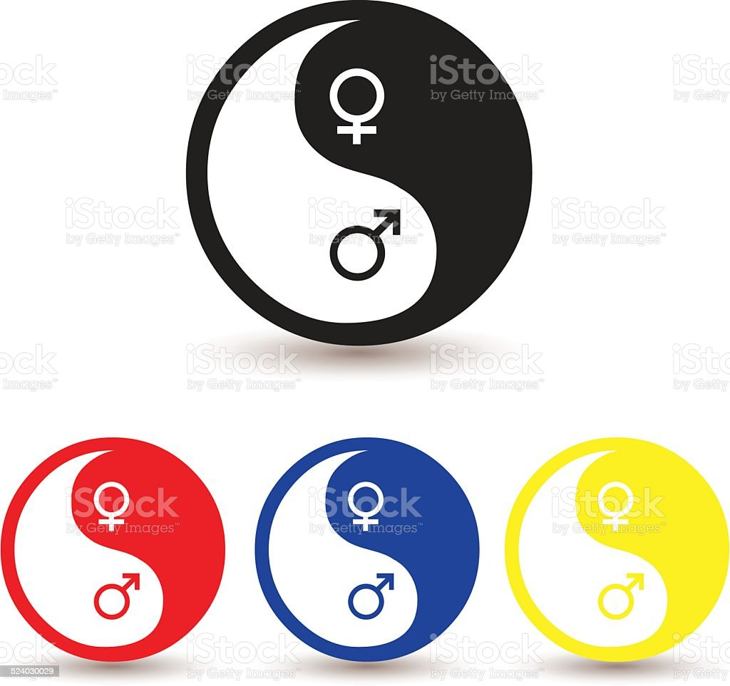 Yin Yang Male And Female Symbol Stock Vector Art More Images Of
