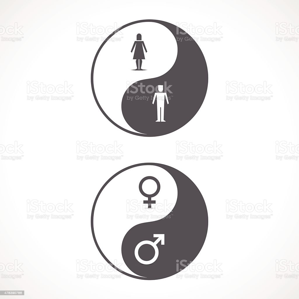 Yin Yang Male Female Stock Vector Art More Images Of 2015