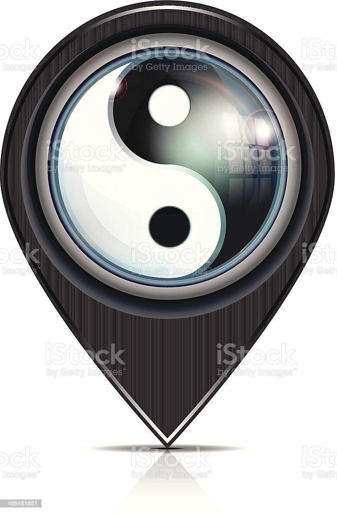 Yin Yang Pointer royalty-free stock vector art