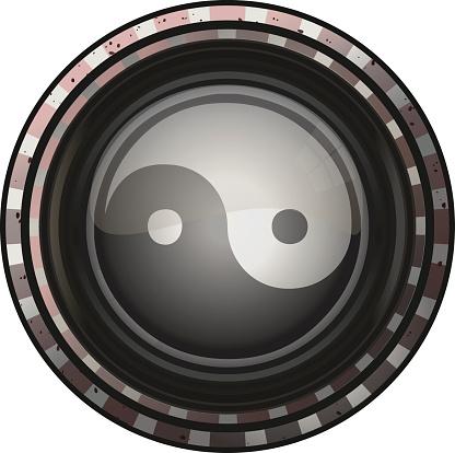 Yin Yang Round Sign.
