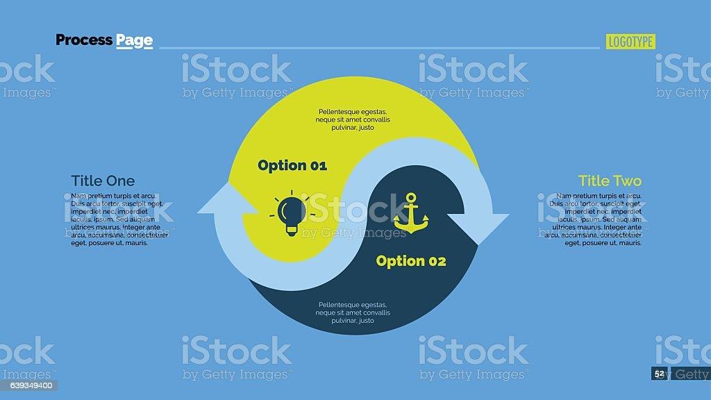 Yin Yang Sign Options Slide Template vector art illustration