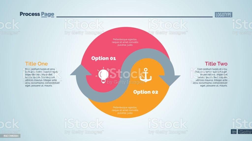 Yin Yang Sign Options Slide Template Stock Vector Art More Images