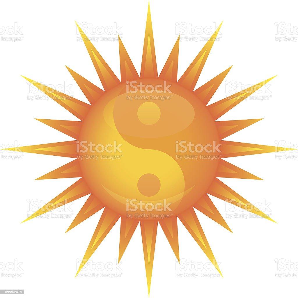 Yin yang sun royalty-free stock vector art