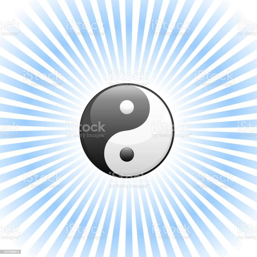 Yin Yang Symbol in a glow royalty-free stock vector art