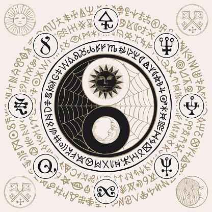 yin yang symbol of harmony, feng shui, zen