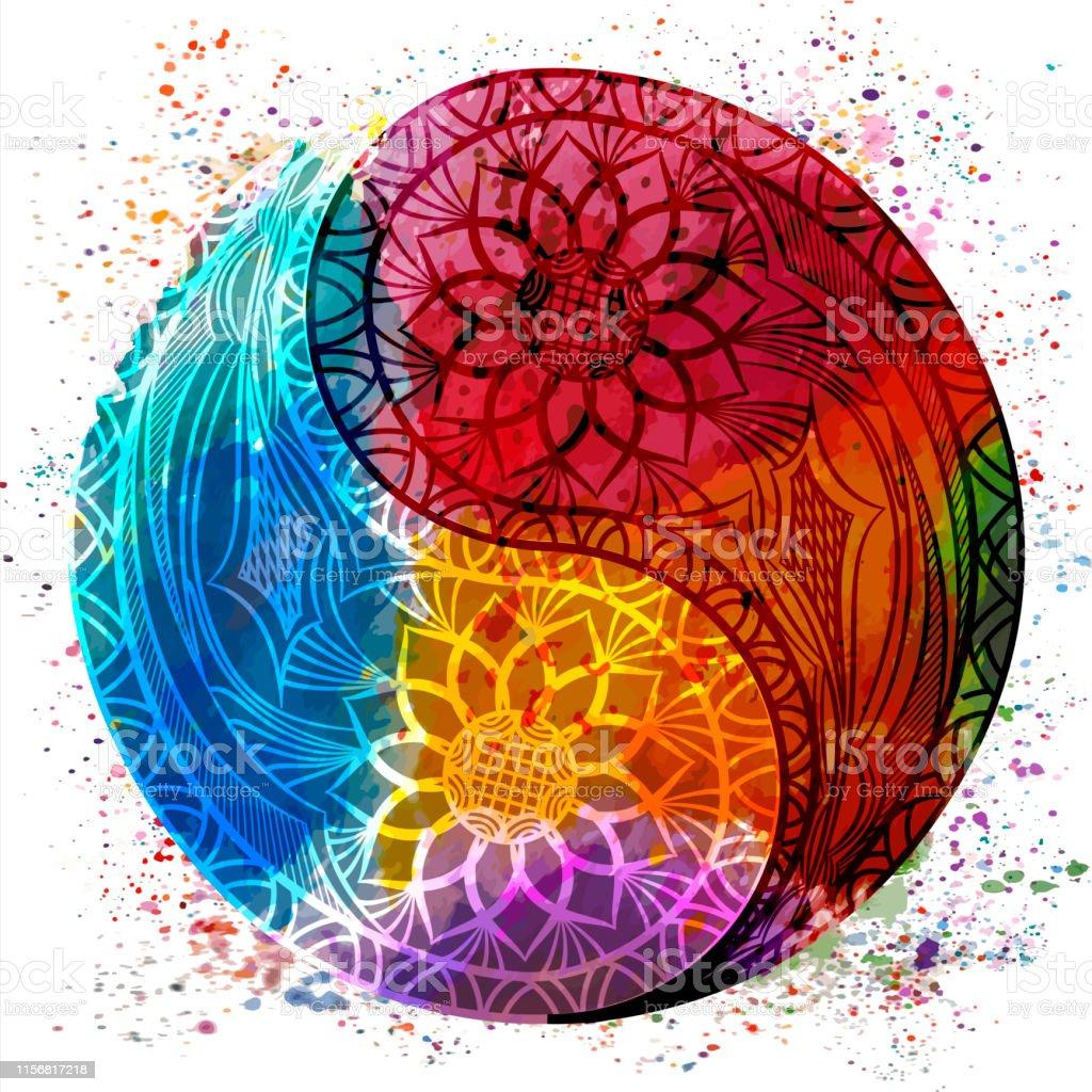 Yin yang symbol. Vector illustration.