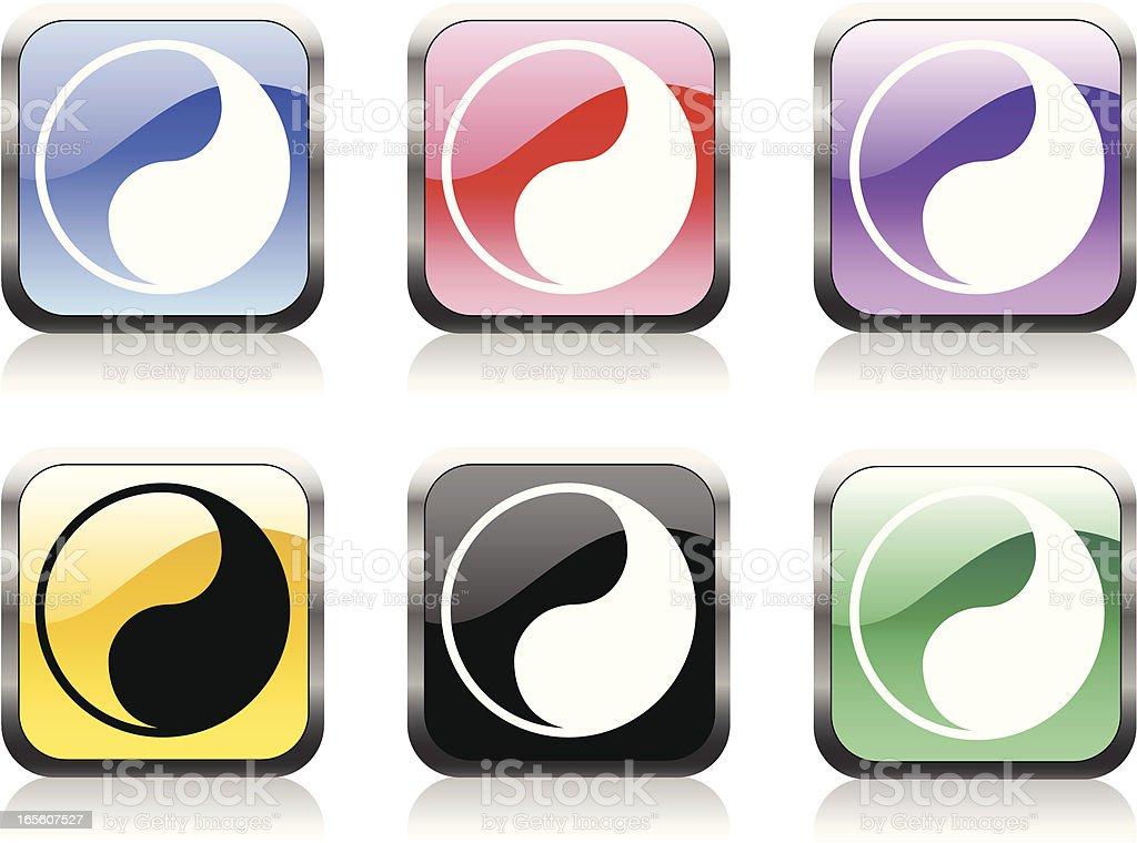 Yin Yang  Symbol royalty-free stock vector art