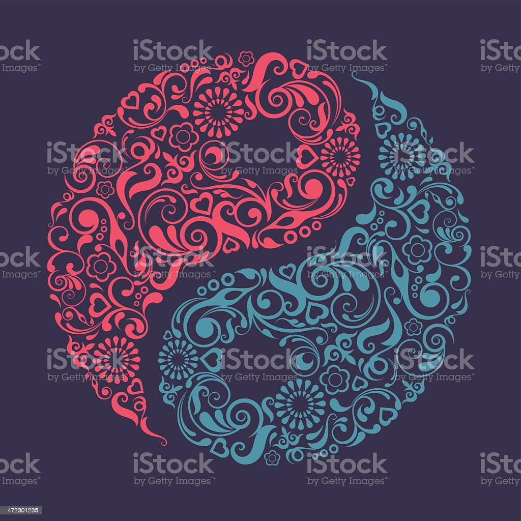 Yin Yang symbol. - Grafika wektorowa royalty-free (Bez ludzi)