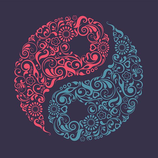 Yin Yang symbol. – artystyczna grafika wektorowa