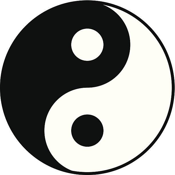 yin yang symbol simple black and white yin yang symbol yin yang symbol stock illustrations