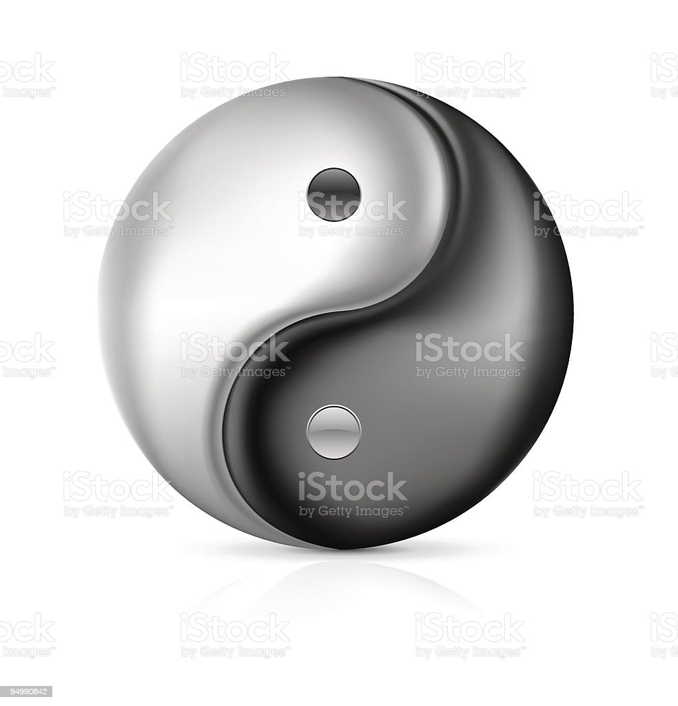 Detailed vector traditional Chinese Yin Yang symbol. To see more...