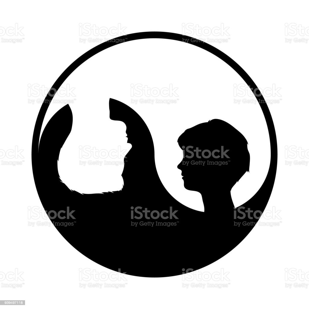 Ilustración De Símbolo De Yin Yang Con Mujer Y Hombre Y Más Banco De