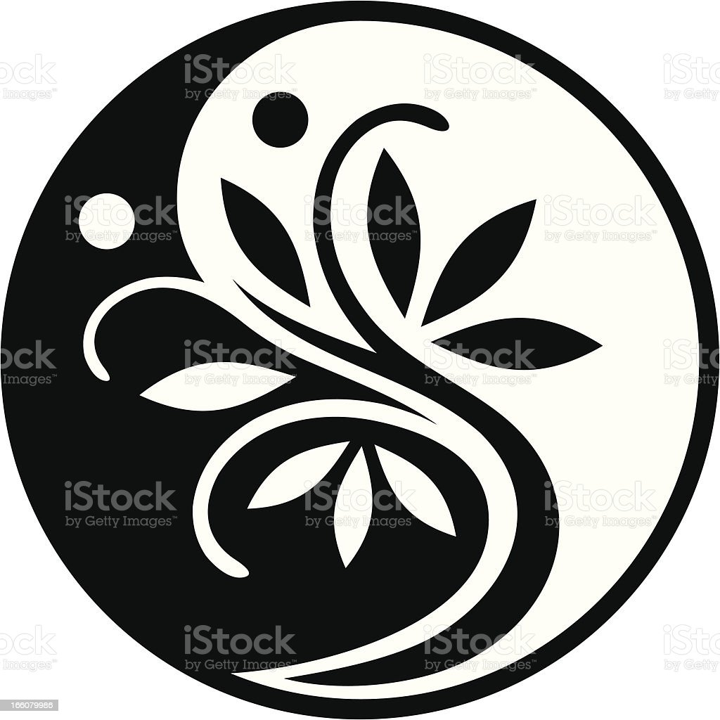 Yin Yang Tree vector art illustration