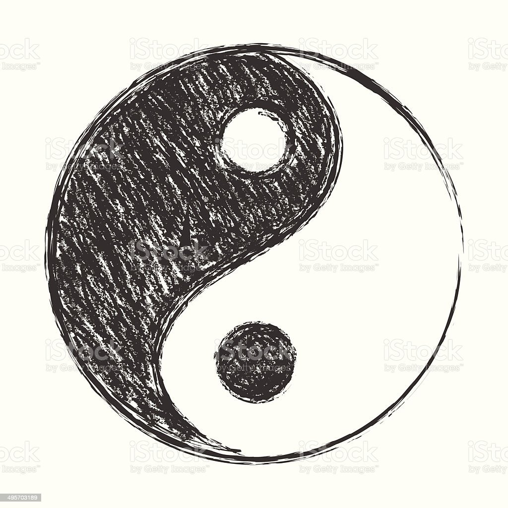 Yin Yang Stock Vector Art More Images Of Balance Istock