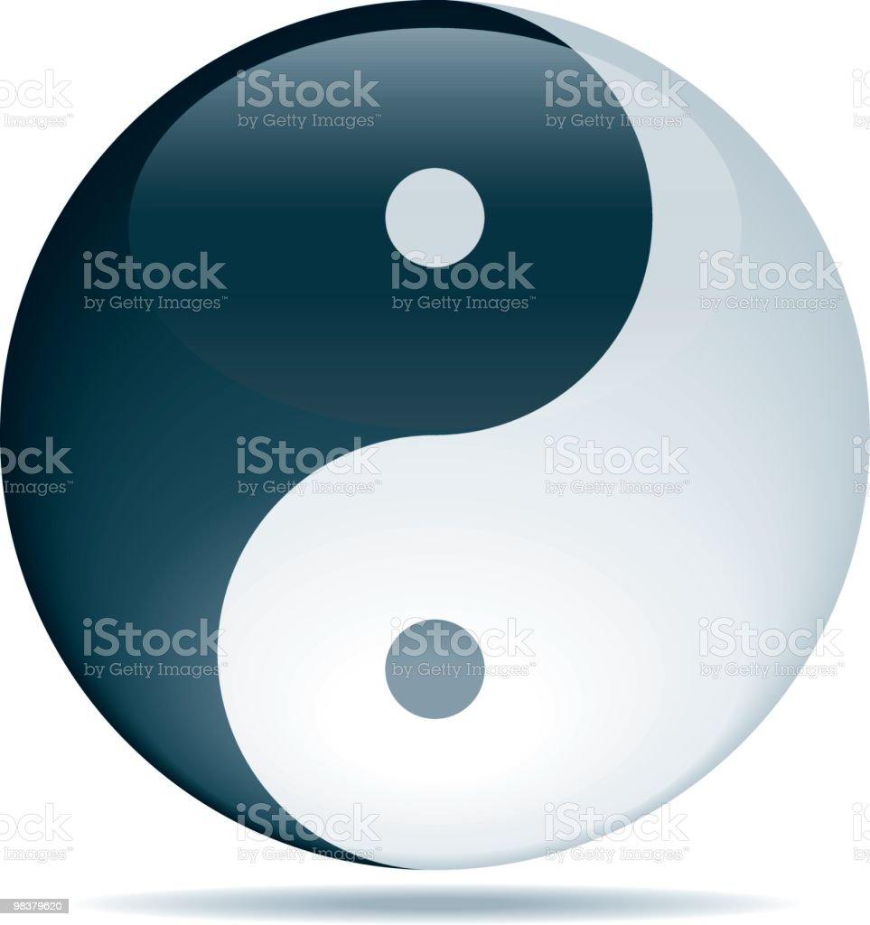 Yin Yang yin yang - immagini vettoriali stock e altre immagini di contrasti royalty-free