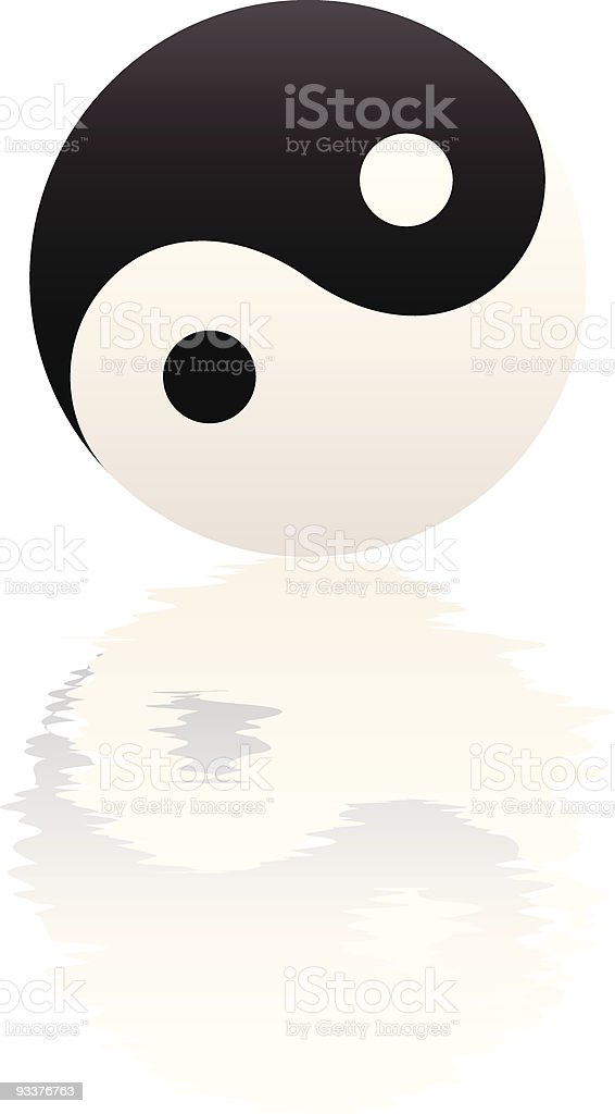 Yin Yang Water Ripple Reflection royalty-free stock vector art