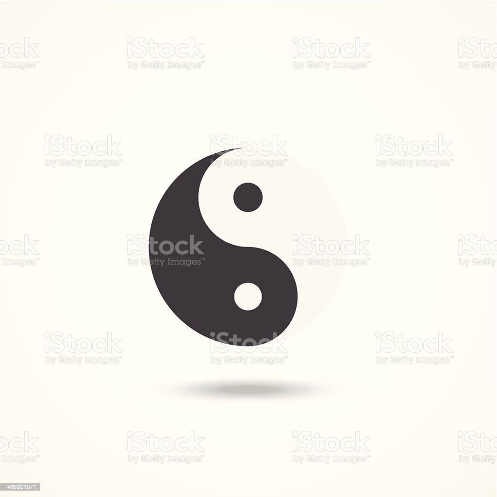Ying yang icon vector art illustration