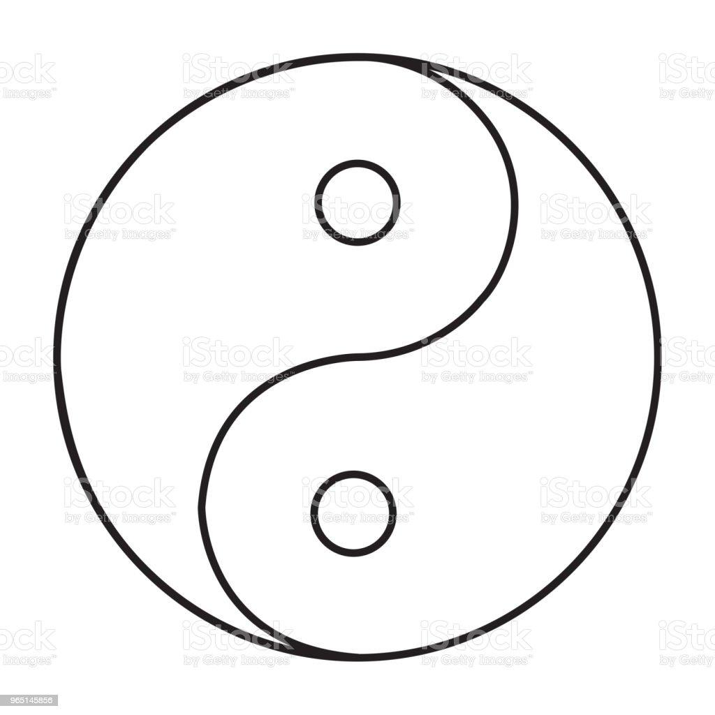ying yang icon ying yang icon - stockowe grafiki wektorowe i więcej obrazów abstrakcja royalty-free