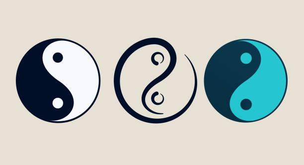 Ying yang symbol of harmony and balance Ying yang symbol of harmony and balance yin yang symbol stock illustrations