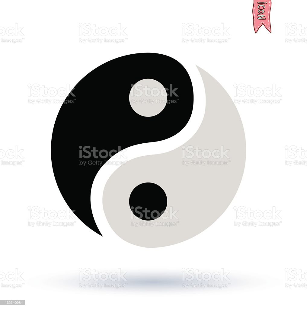 Ying yang symbol  vector silhouette vector art illustration