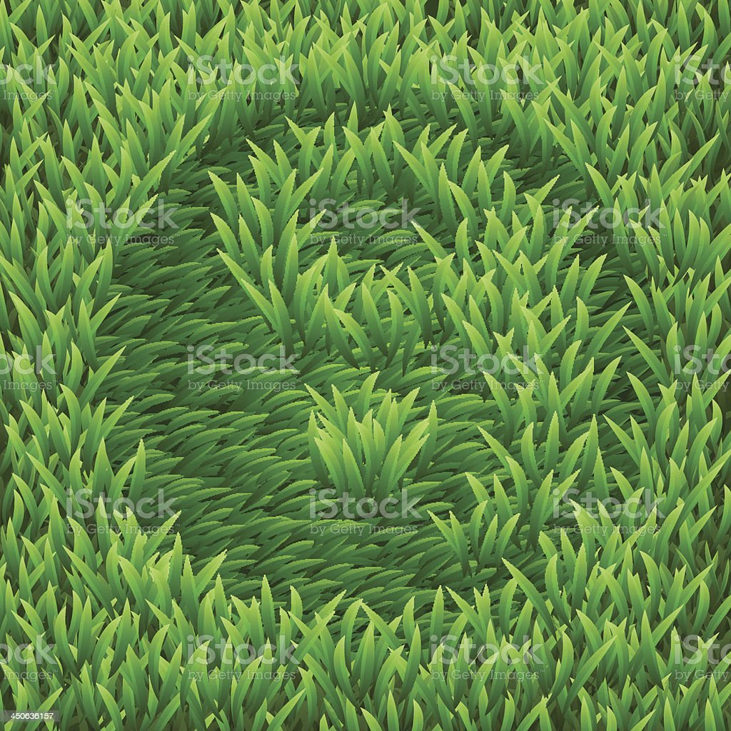 Ying-yang on green grass royalty-free stock vector art