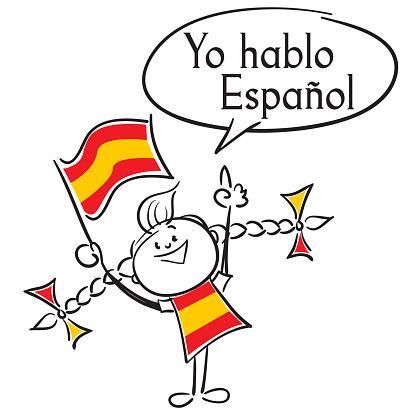 Yo Hablo Espanol Stock Vektor Art Und Mehr Bilder Von Bildung Istock