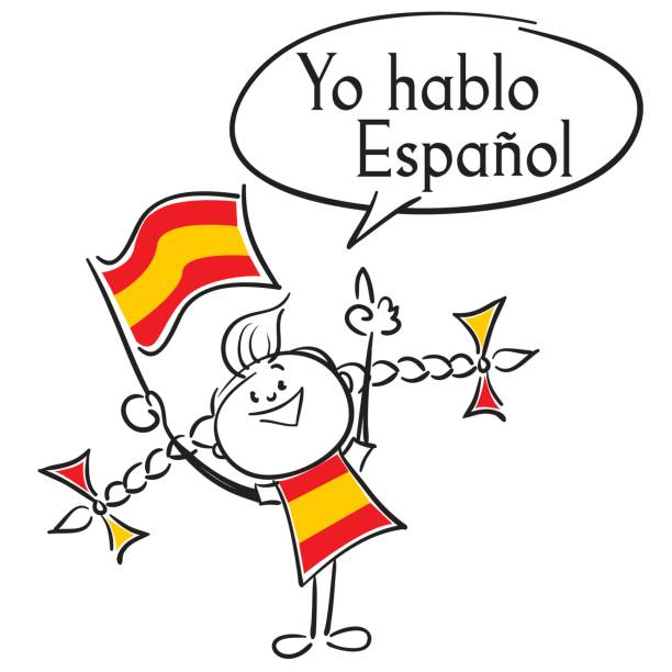 illustrations, cliparts, dessins animés et icônes de yo hablo espanol - cours de langue