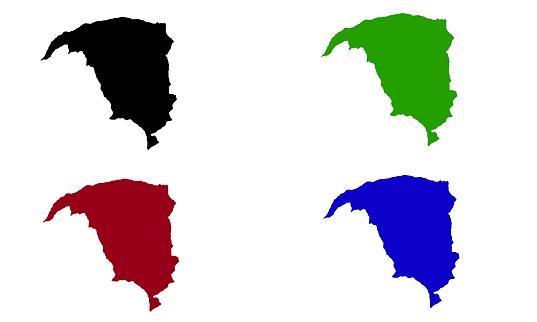 Yobe city silhouette map in Nigeria