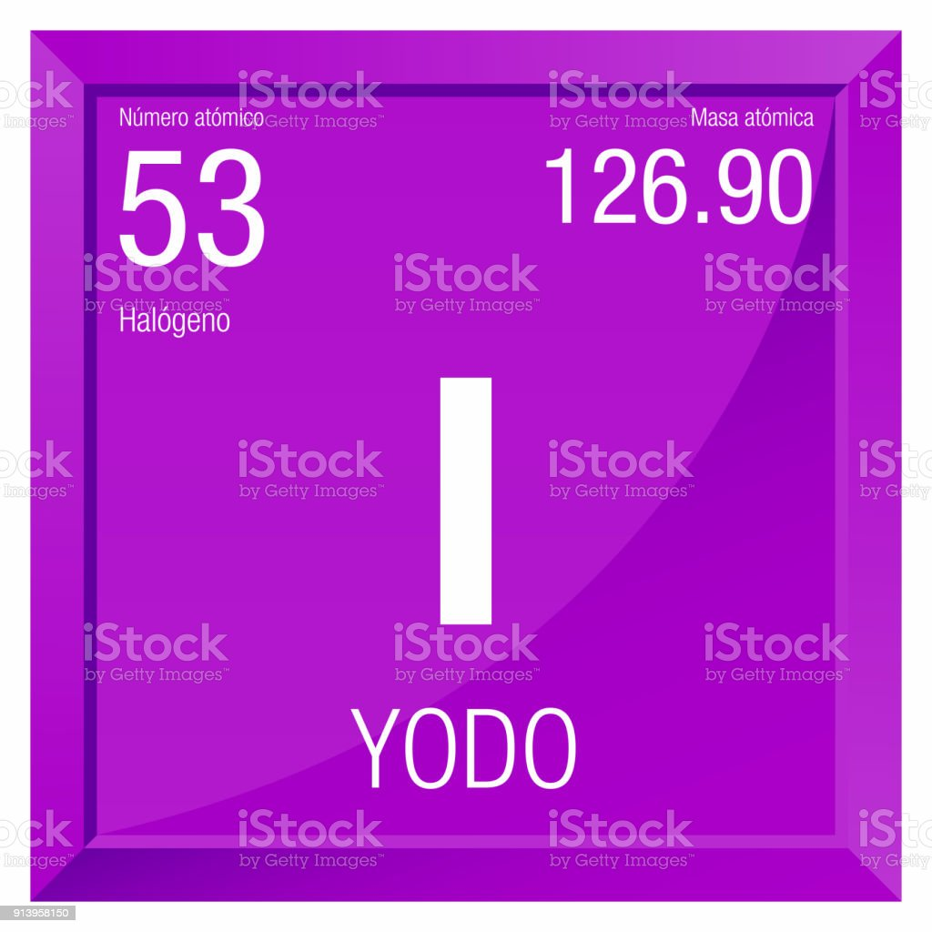 Yodo symbol iodine in spanish language element number 53 of the yodo symbol iodine in spanish language element number 53 of the periodic table of urtaz Images