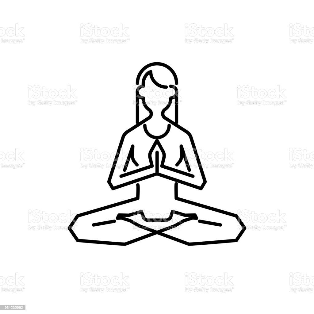 Estilo De Plantilla Lineal Yoga De Diseño Abstracto Para Retiro De ...