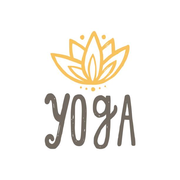 yoga and lotus. - yoga stock illustrations, clip art, cartoons, & icons