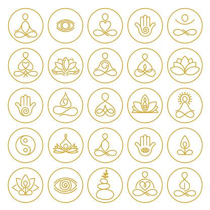 Yoga and Meditation Icons