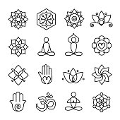 Yoga and Meditation Icons